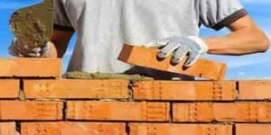 rampa de acessibilidade em rio preto assentamento de tijolos para construção de casas, habitações, prédios, galpões