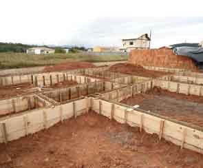 baldrame para construção de moradia com 4 quartos