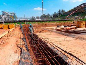 fundação concreto armado