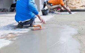 reforma com piso de concreto polido